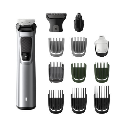 Philips MG7715 13 in 1 Multi-Grooming Cordless Kit for Men (Silver, Black)
