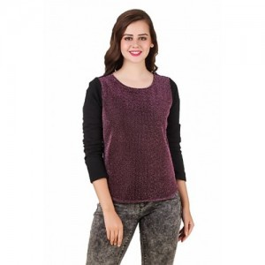 Texco Wine Shimmer Party Sweatshirt