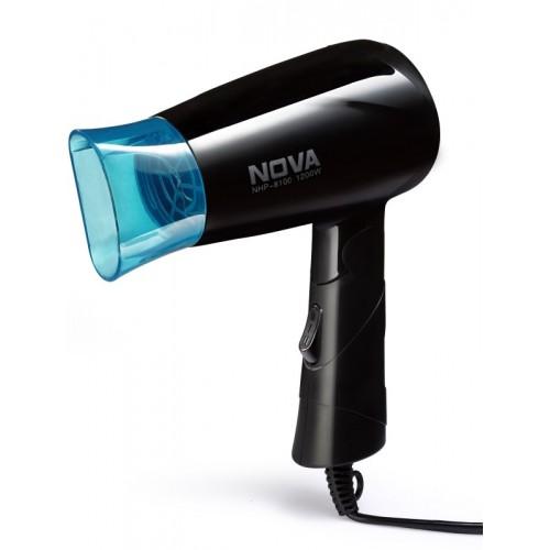 Nova Silky Shine 1200 W Hot And Cold Foldable NHP 8100/05 Hair Dryer(Black, Blue)