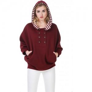 Texco Hooded Maroon Cape Sweat shirt