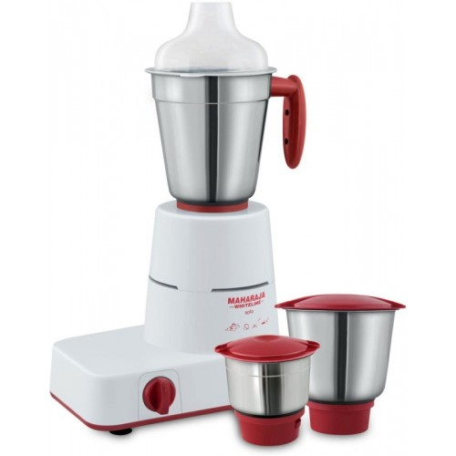 Maharaja Whiteline Solo MX 122 500 W Mixer Grinder(White, Red, 3 Jars)