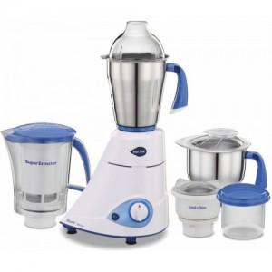 Preethi Blue Leaf Platinum 750 W Mixer Grinder(White/Blue, 4 Jars)