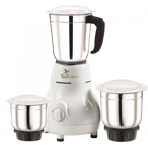 Green Home Matka 3 Jar 450 W Mixer Grinder(White, 3 Jars)