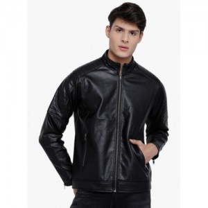 LOCOMOTIVE Black Solid Casual Jacket