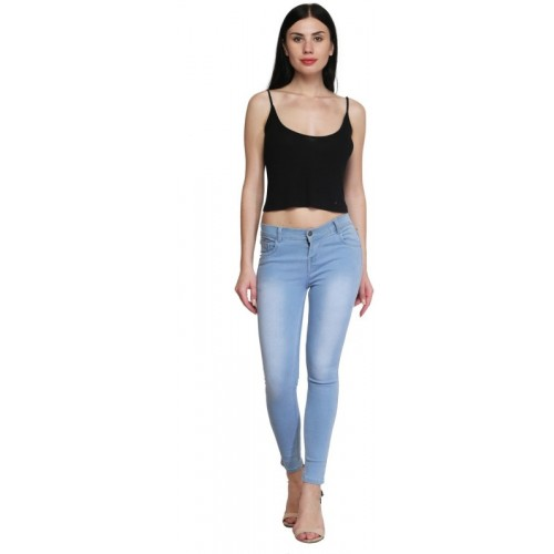 A-Okay Skinny Women Light Blue Jeans