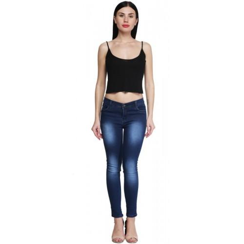 A-Okay Skinny Women Dark Blue Jeans
