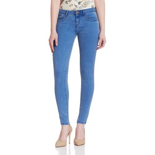 0-Degree Skinny Women Blue Jeans