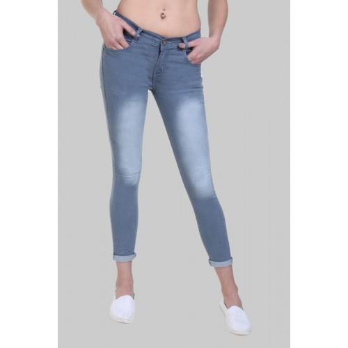 Crease & Clips Skinny Women Light Blue Jeans