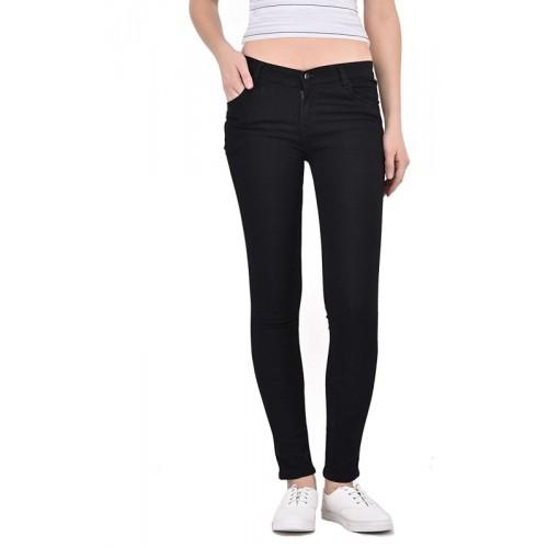 0-Degree Skinny Women Black Jeans