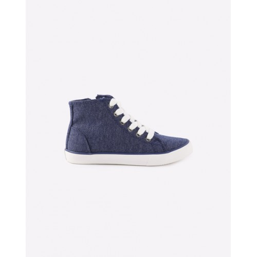 UNITED COLORS OF BENETTON High-Top Panelled Lace-Up Shoes