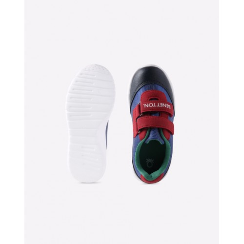UNITED COLORS OF BENETTON Textured Sneakers with Velcro Closure