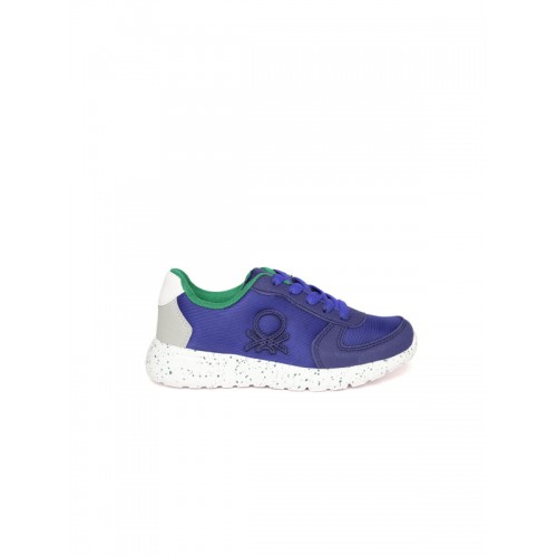 United Colors of Benetton Unisex Blue  Synthetic Sneakers