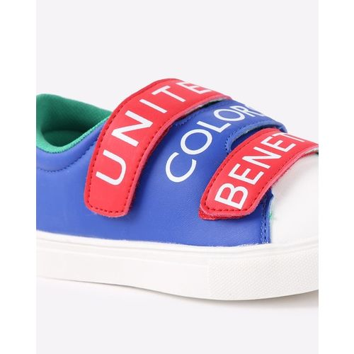 United Colors of Benetton Kids Blue & Red Printed Sneakers