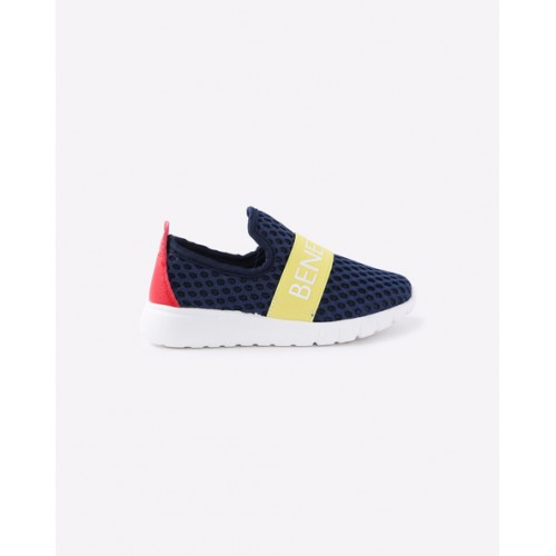 United Colors of Benetton Navy Blue Slip-On Sneakers