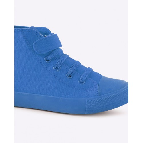 United Colors of Benetton Blue Solid Sneakers