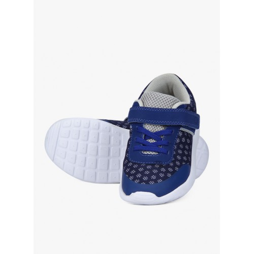 United Colors of Benetton Mesh And Pu Navy Blue Sneakers
