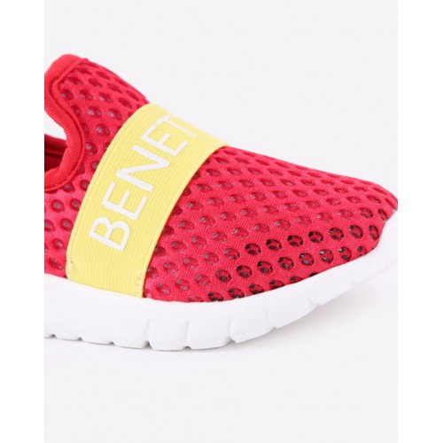 United Colors of Benetton Kids Red & Yellow Slip-On Sneakers
