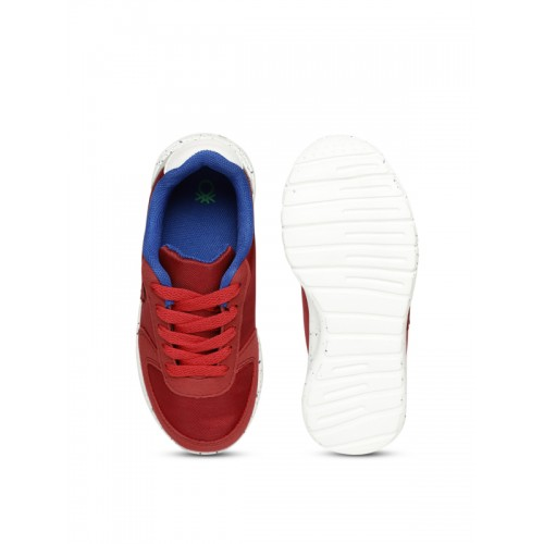 United Colors of Benetton Unisex Red & Grey Sneakers