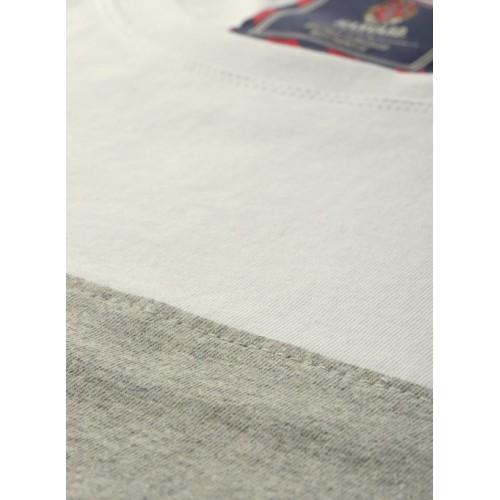 Harvard Grey & Black Colourblocked Round Neck T-Shirt
