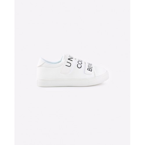 United Colors of Benetton Unisex White Printed Sneakers