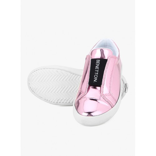 United Colors of Benetton Pink Slip-On Sneakers