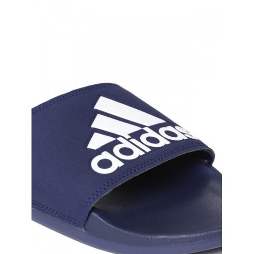 Adidas Men Navy Blue Solid Adilette Comfort Sliders