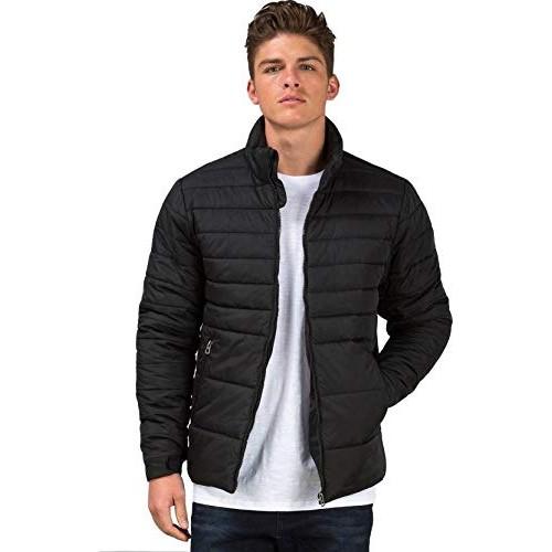 Ben Martin Black Solid Quilted Jacket