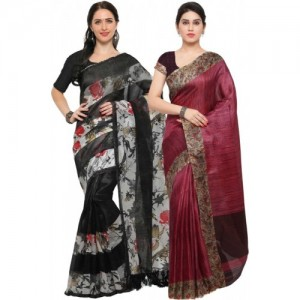 3a7ede34f608d4 Buy Rajnandini Women s Tussar Silk Saree With Blouse Piece ...