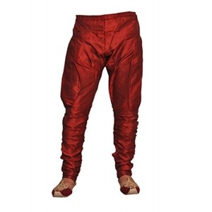 Royal Kurta Maroon Silk Solid Men's Baloon Pants