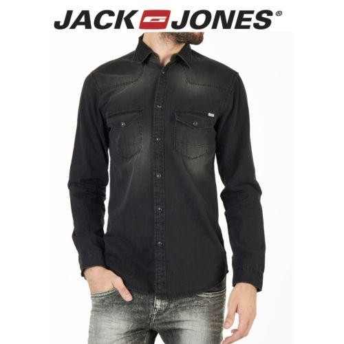 Buy Jack & Jones Vintage Black Denim Export Surplus Shirt online