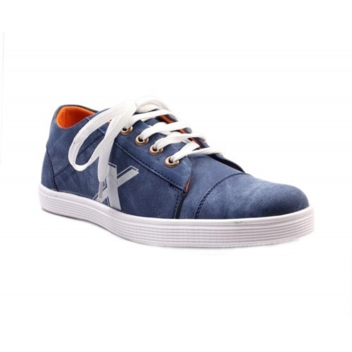 REDFOOT Blue Synthetic Leather Casuals Shoes