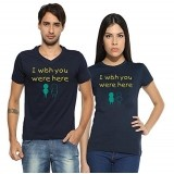 PepperClub Couple Tshirt Half Sleeve - Set of 2
