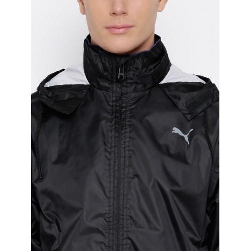 d69fb0a2f2a0 Buy PUMA Black Leather Solid Rain Jacket online