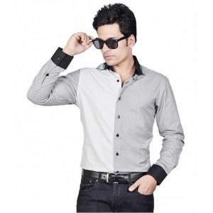 Dazzio Grey Partywear Shirt