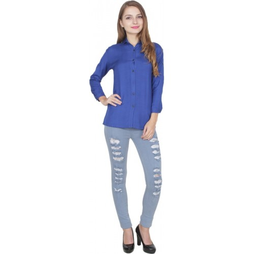Shyammc Women Solid Casual Slim Shirt