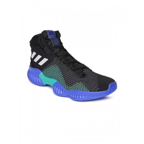 24e4b95b6ad22 Buy Adidas Men Black   Blue Pro Bounce 2018 Mid-Top Basketball Shoes ...
