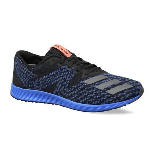 size 40 bcdfe 4423f Buy Adidas Men Black & Blue Aerobounce PR Running Shoes ...