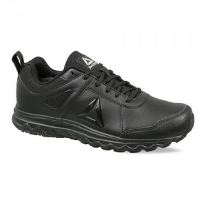 Reebok Black Synthetic Lace Up Running Shoes