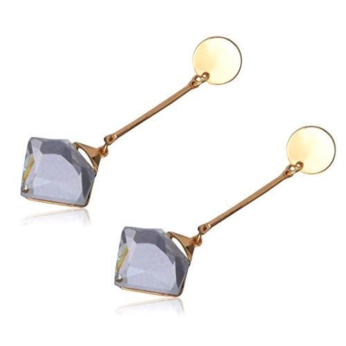 Crunchy Fashion Jewellery Oxidised Silver Stylish Thread Tassel Long Earrings for Girls Fancy Party Wear Earrings for Women
