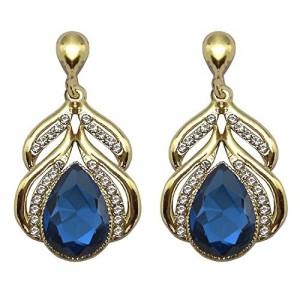 Crunchy Fashion Jewellery Oxidised Gold Stylish Fancy Party Wear Crystal Traditional Earrings for Girls & Women