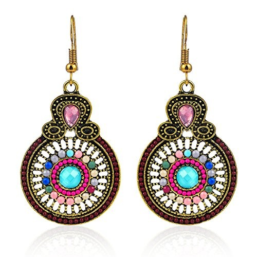 Crunchy Fashion Jewellery Gold Plated Drop Earrings for Women