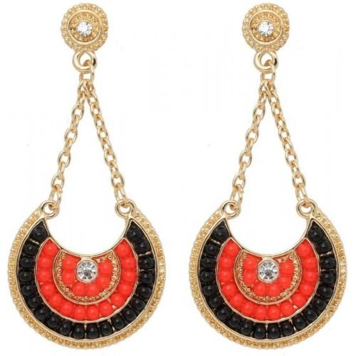 Crunchy Fashion Bohemian Beads Dangle Earrings Metal Drop Earring