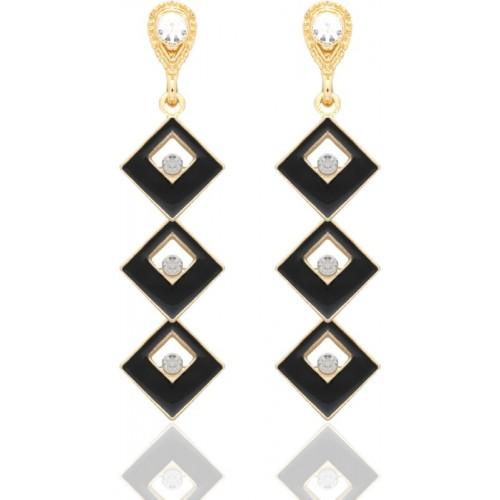 Crunchy Fashion Dazzling Square Dangle for Women Metal Drop Earring, Dangle Earring