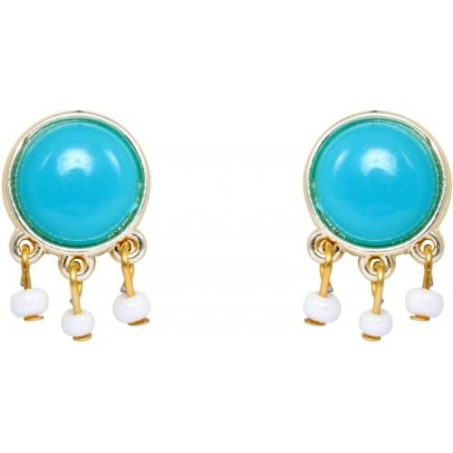 Crunchy Fashion Blue Bauble Crystal Alloy Drop Earring