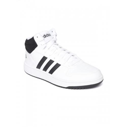 adidas men white hoops