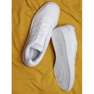 Adidas Men White Hoops 2.0 Basketball Shoes