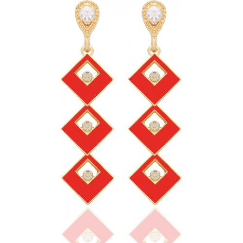 Crunchy Fashion Dangling Square for Women Metal Drop Earring, Dangle Earring
