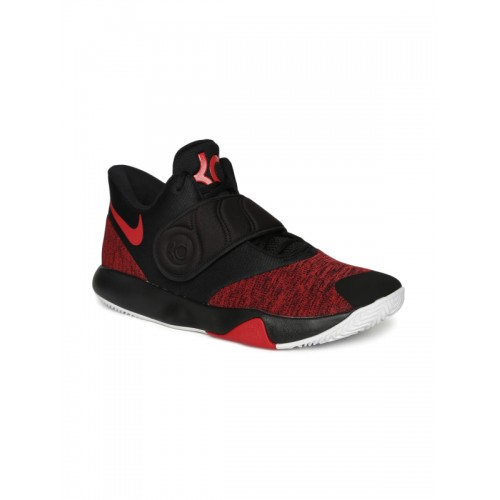 huge discount 0917a 15a66 ... Nike Men Red   Black KD TREY 5 VI Mid-Top Basketball Shoes ...