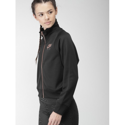 5934f5a6f139 ... Nike Women Black AS W NSW AIR N98 JKT PK Solid Sporty Crop Jacket ...