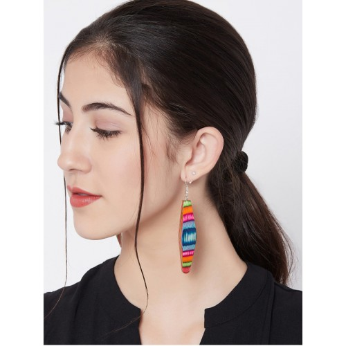 ZeroKaata Multicoloured Contemporary Drop Earrings